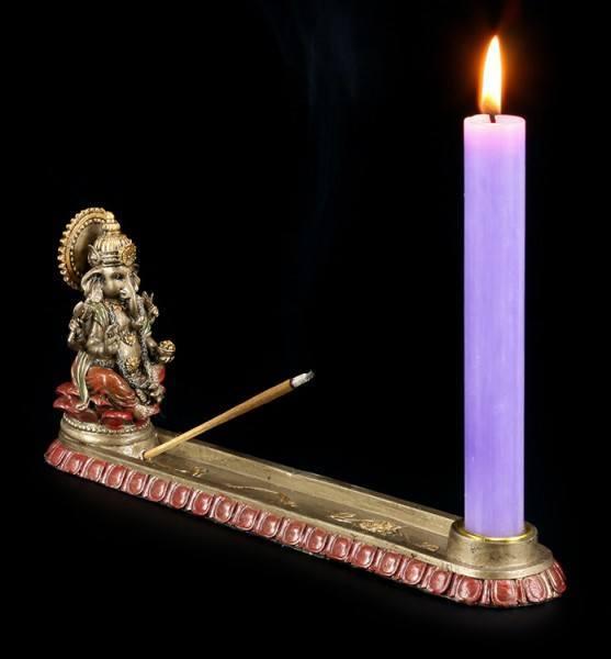 Ganesha Kerzen- und Räucherhalter