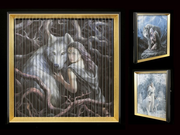 Kinetic Picture with Wolves by Anne Stokes