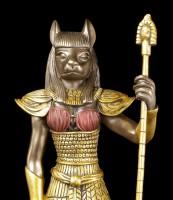 Ägyptische Krieger Figur - Bastet - Bronziert
