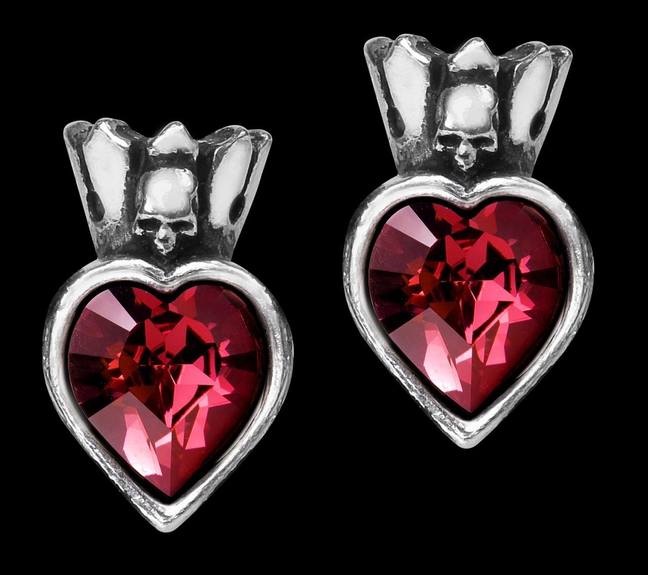 Alchemy Gothic Earrings - Claddagh Heart