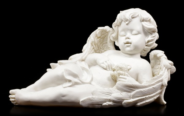 Engel Figuren - Mit Teddy und Vogel - 2er Set
