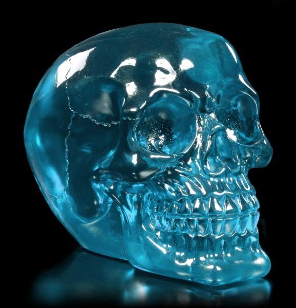 Durchsichtiger Totenkopf petrol - Dragon Blood Skull