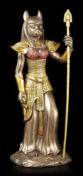 Egyptian Warrior Figurine - Bastet - bronzed