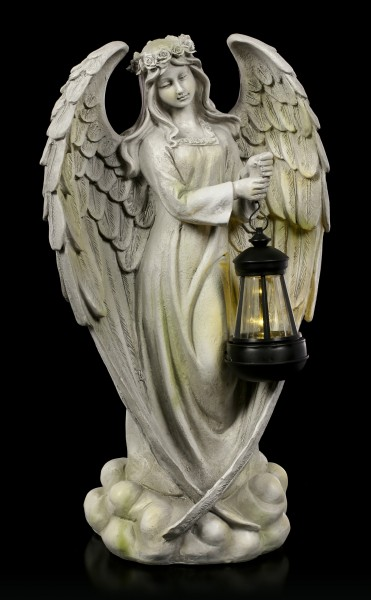 Angel Garden Figurine with Solar Lantern