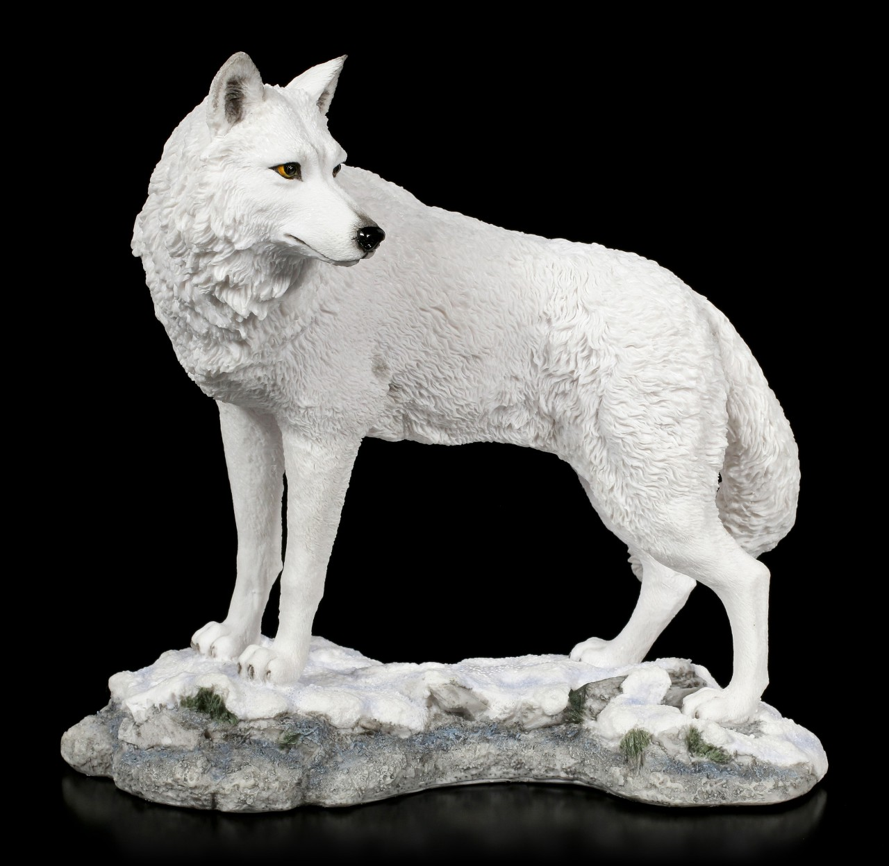 Polar Wolf Figurine - Watching