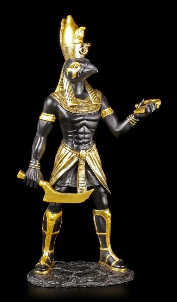 Ägyptische Krieger Figur - Horus - Schwarz Gold
