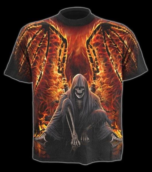 T-Shirt Fantasy - Todesengel Flaming Death