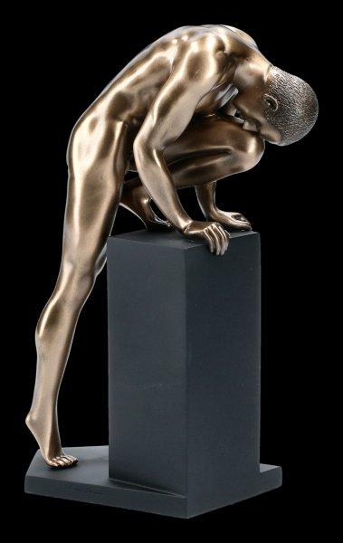 Male Nude Figurine - Climbing on Pedestal