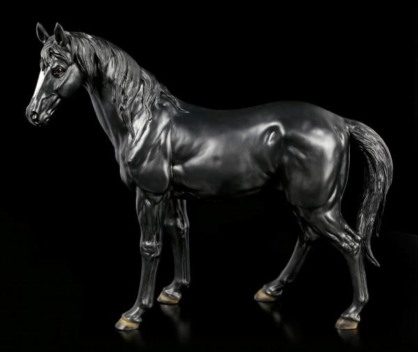 Large Black Horse Figurine