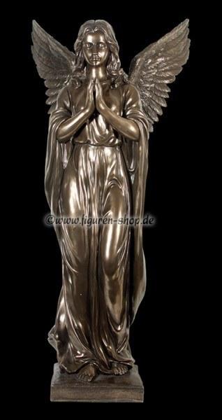 Engel Gartenfigur - betend bronziert
