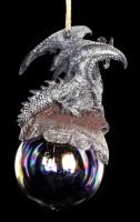 Drachen Christbaum-Schmuck - Checkmate grau