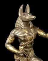 Anubis Krieger Figur mit Waage - bronziert