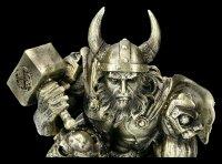 Thor Figur mit Hammer Mjolnir