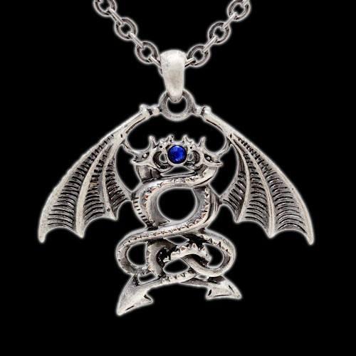 Halskette - Kämpfende Drachen