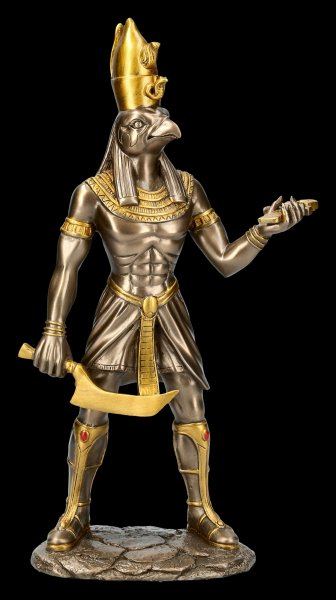 Egyptian Warrior Figurine - Horus - bronzed