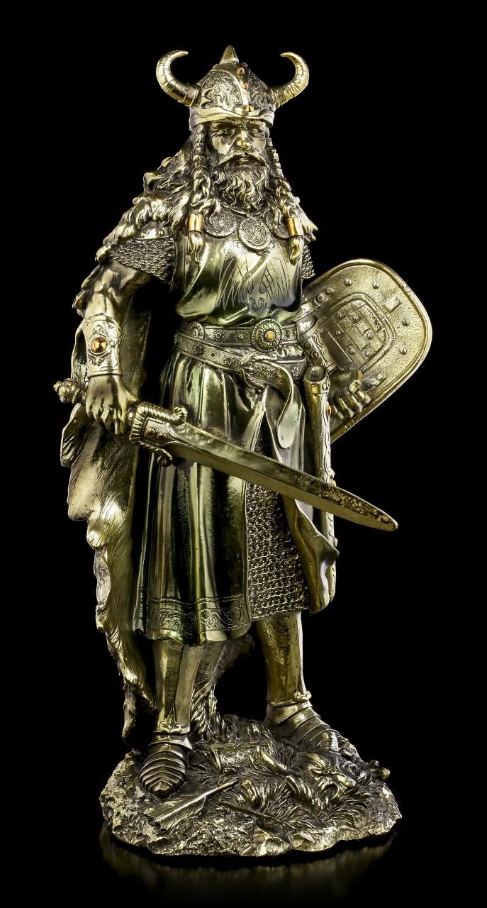 Wikinger Figur mit Schwert und Schild