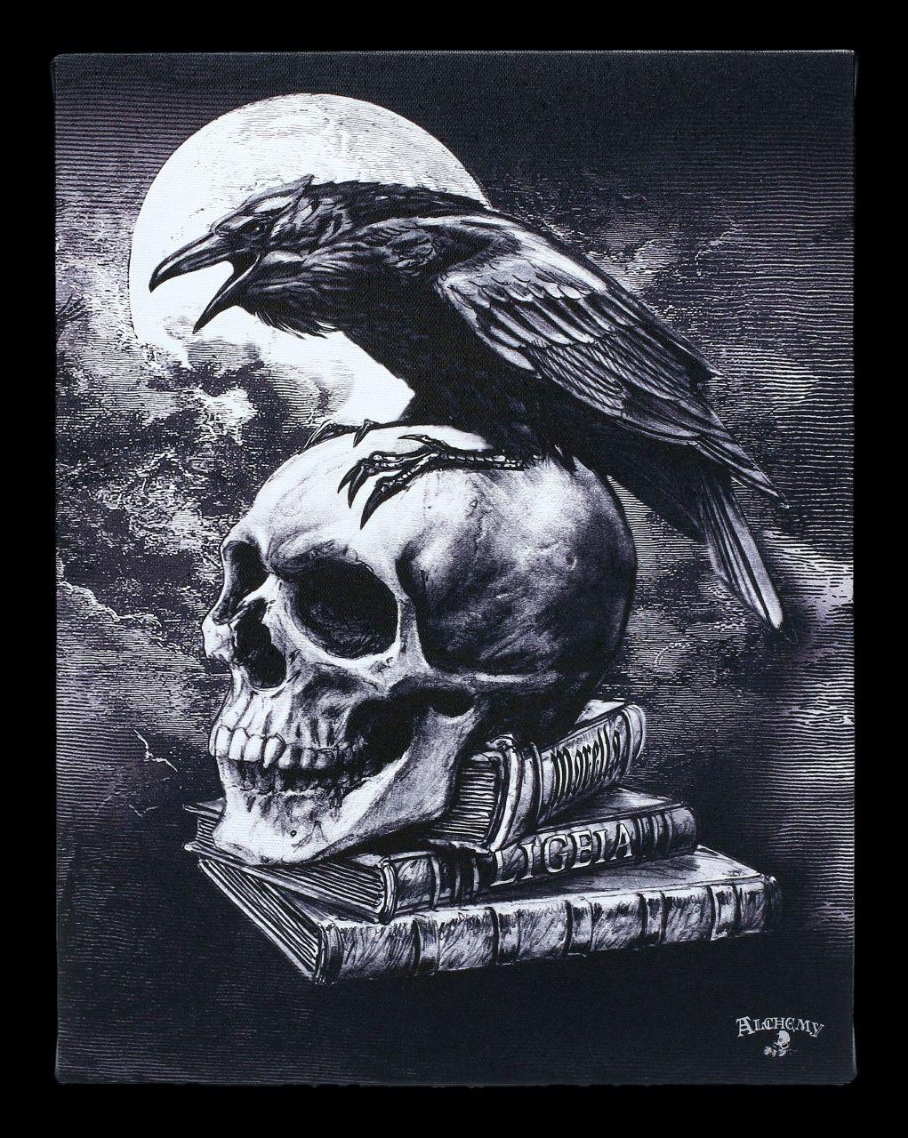Kleine Leinwand Rabe - Poe's Raven