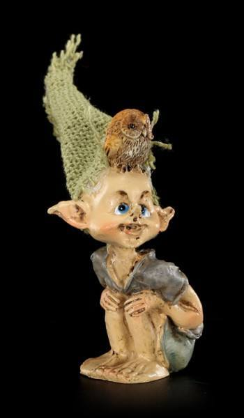 Pixie Goblin Figurine - Owl on Head