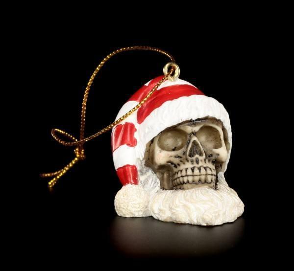 Christmas Tree Decorations - Santa Skulls Mix - Set of 6