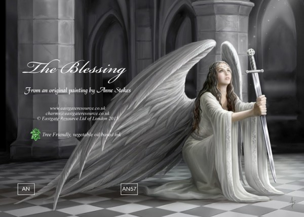 Fantasy Grußkarte Gothic Engel - The Blessing