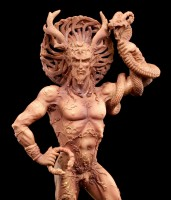God Figurine - Horned Cernunnos - Terracotta colored