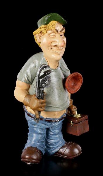 Funny Job Figur - Installateur mit Rohrzange