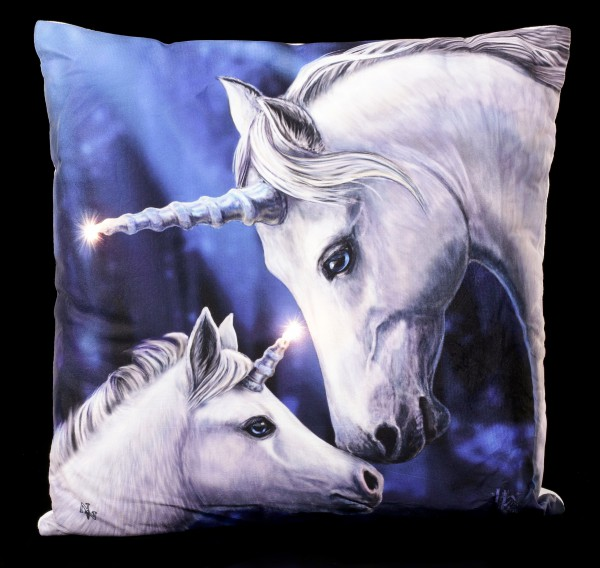 Preview: LED Cushion with Unicorns - Sacred Love