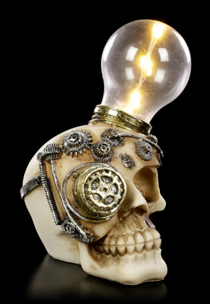 Steampunk Totenkopf mit LED - Light Minded