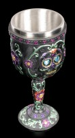 Day of the Dead Goblet - Black Blossom