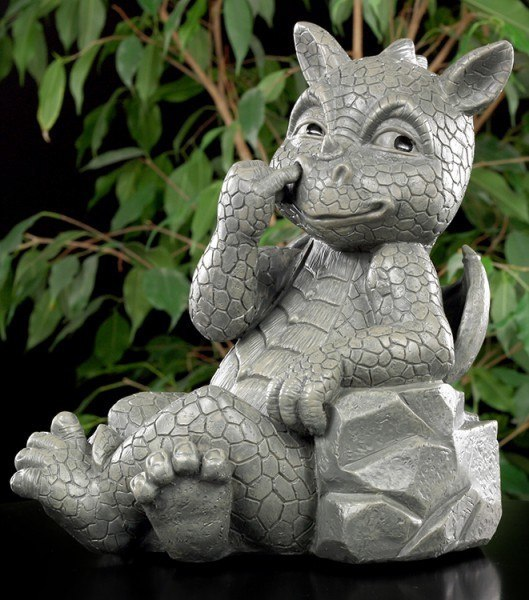 Garden Figurine - Dragon Nose-Picking