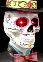 Day of the Dead Bust with LED - Baron Samedi