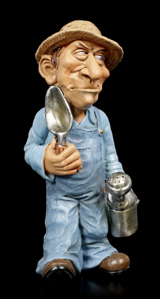 Funny Job Figurine - Gardener with Flower Trowel