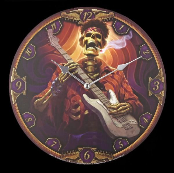 Wanduhr - Skelett Gitarrist - Dead Groovy