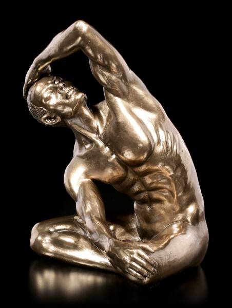 Male Nude Figurine - With Hand on his Head - large