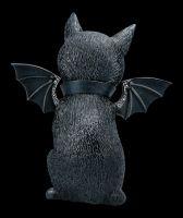 Okkulte Katzenfigur mit Flügeln - Malpuss groß