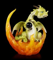Dragon Figurines in Fire LED - Set of 3