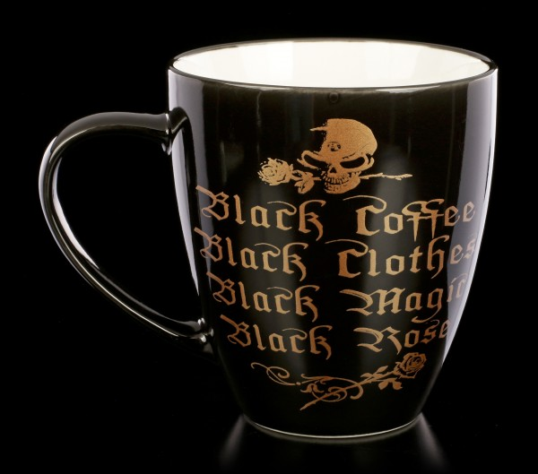 Alchemy Gothic Tasse - Black Coffee, Black Clothes