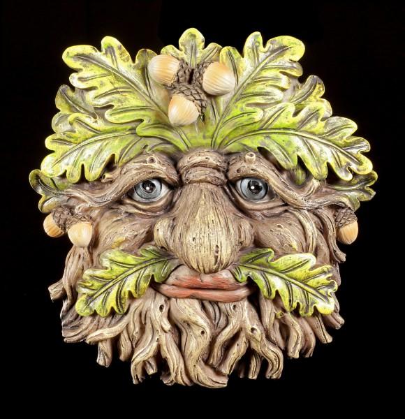 Waldgeist Wandrelief - Eichel Gesicht