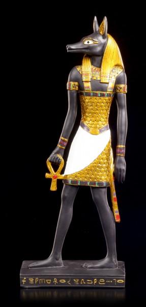Anubis Figur mit Ankh Kreuz