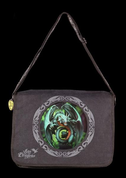 Umhängetasche mit 3D Motiv - Drache Jade Emerald Dragon