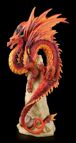 Drachen Figur - Ruby Sentinel