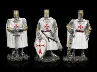 White Crusader Figurines - Set of 6