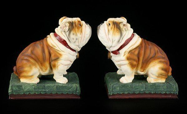 Buchstützen Set - Bulldoggen