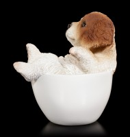 Dog in Cup mini - Spaniel Puppy