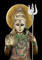 Hinduistische Götter Figur - Shiva - Sitzend auf Lotusblüte