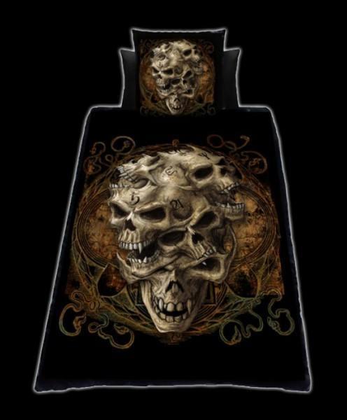 Alchemy Bettwäsche mit Totenköpfen - Twisted Skulls