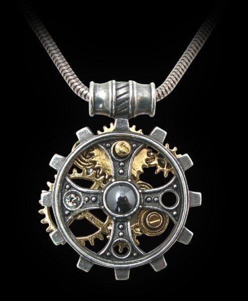 Alchemy Steampunk Halskette - Foundryman's Ring Cross