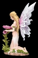 Elfen Figur - Florina kniet vor Blume
