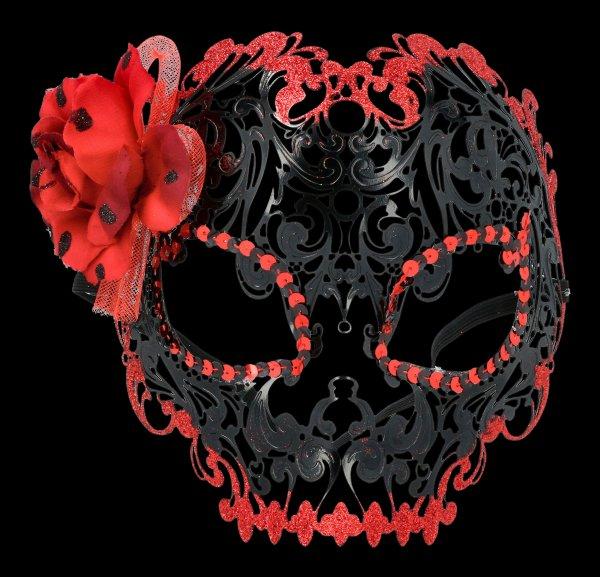 Maske aus Metall - Dia de los Muertos