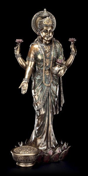 Large Indian Hindu God Figurine - Lakshmi